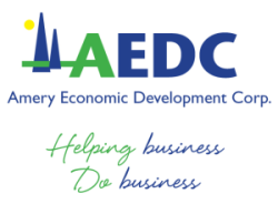 Amery Economic Development Corporation AEDC Logo - Helping business Do business