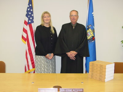 Judge Jerome F. Wittstock and Clerk Court Debra Trandum