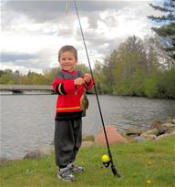 Fishing Amery Dam Ben with Fish May 2010